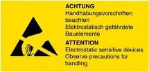 Etykieta ostrzegawcza, 18x37mm, 50szt.