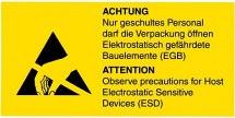 Etykieta ostrzegawcza, 18x37mm, 50szt. 2 model.