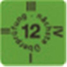Etykieta informacyjna przeglądu, 2012, 15x15.