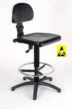 Krzesło ESD, poliuretanowe, z serii I, wysokie.