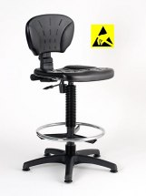 Krzesło ESD, seria II, poliuretanowe, wysokie.