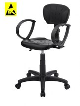 Krzesło ESD, seria II, poliuretanowe z podłokietnikami.