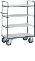 Wózek ESD duży, 2 półki ze ściankami bocznymi, 4 - kondygnacyjny, 9200.K2, platforma - 500x850mm, 250kg.