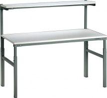 Stanowisko podstawowe ESD z półką, blat - 700x1500mm