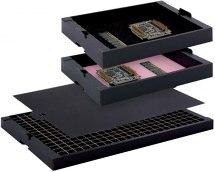 Tacka Corstat ESD, 351x246x60mm / 297x230x55mm, z pianką rozpraszającą.