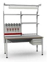 Stanowisko montażowe Table 200 C3 ESD, z korbą do regulacji wysokości. Blat 1530x750mm