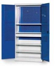 Panel narzędziowy z blachy perforowanej do szafy narzędziowej, 338x600mm, drzwi.
