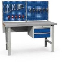 Stanowisko montażowe Table 500 C6, 1530x800mm, z panelem narzędziowym i szufladami.