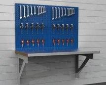 Stanowisko montażowe Table 500 C13, ścienne, wyposażone w panel narzędziowy, blat 1530x800mm.