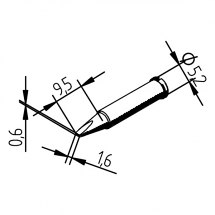 Grot lutowniczy 102CDLF16 do Typ ERSA 102.