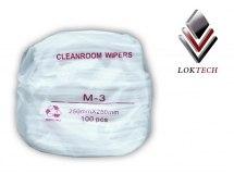 Chusteczki  M-3 Cleanroom, do czyszczenia, opakowanie 100szt.  250 x 250mm.